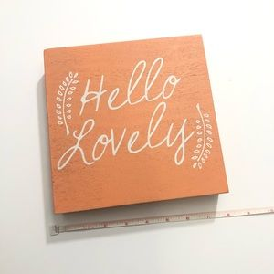 Coral Hello Lovely Hobby Lobby Wall Decor